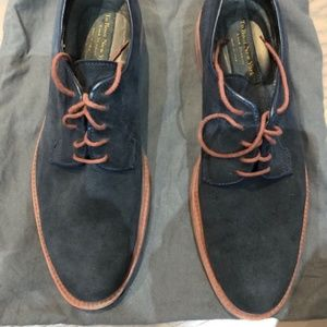 To Boot New York Mens Blue Suede Shoes